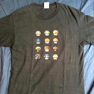 ニンテンドウ(任天堂)のL 04年 USA企画 Nintendo Super Mario キノコTシャツ(Tシャツ/カットソー(半袖/袖なし))