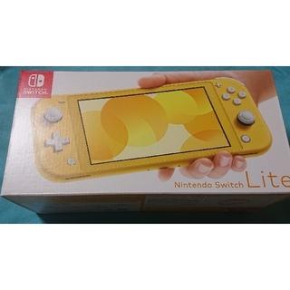 ニンテンドースイッチ(Nintendo Switch)の【新品未使用】即日発送 Nintendo Switch Lite イエロー(家庭用ゲーム機本体)