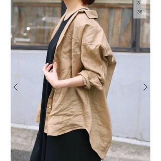 IENA - フレンチリネンオーバーシャツ