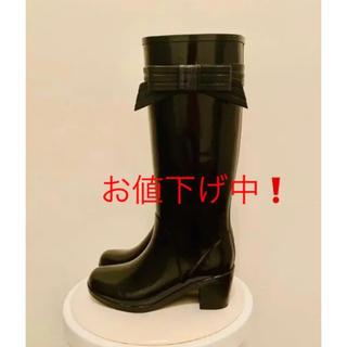 ケイトスペードニューヨーク(kate spade new york)の【Kate Spade New York】黒・レインブーツ・サイズ6(レインブーツ/長靴)