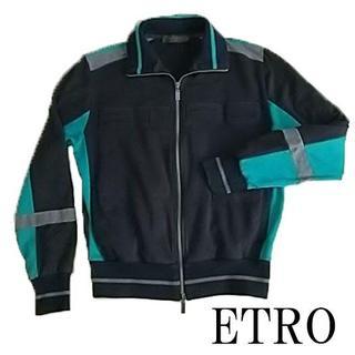 エトロ(ETRO)のETRO エトロ スウェット トレーナー ブラック グリーン グレー(スウェット)