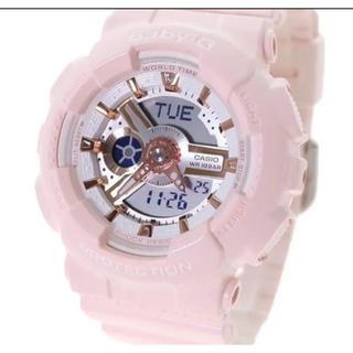 ベビージー(Baby-G)のCASIO 腕時計 レディース BABY-G クォーツ 液晶 パステルピンク(腕時計)