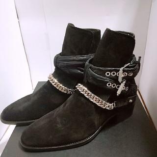 Saint Laurent - 新品未使用 AMIRI バンダナ チェーン ブーツ ブラック