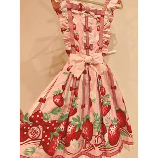 Angelic Pretty - 摘みたていちご エプロン風スカート