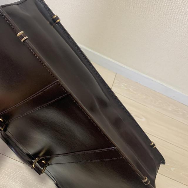 ココマイスター バンガーブリーフ ダークブラウン メンズのバッグ(ビジネスバッグ)の商品写真