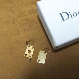 クリスチャンディオール(Christian Dior)の正規品 Christian Dior ディオール ロゴ ハート ピアス トランプ(ネックレス)