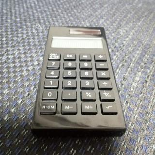 MUJI (無印良品) - 無印良品電卓ソーラーブラックミニ10cm×5cm