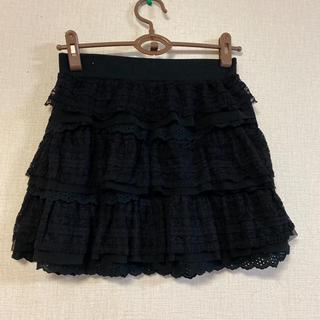 ジーナシス(JEANASIS)のJEANASIS☆レース編みデザインスカート(ひざ丈スカート)