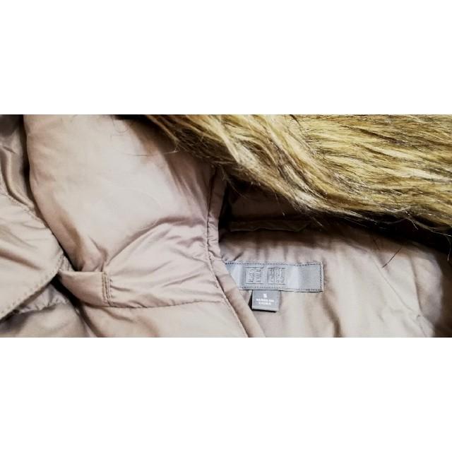 UNIQLO(ユニクロ)のユニクロ ダウンベストパーカーブラウン Sサイズ レディースのジャケット/アウター(ダウンベスト)の商品写真