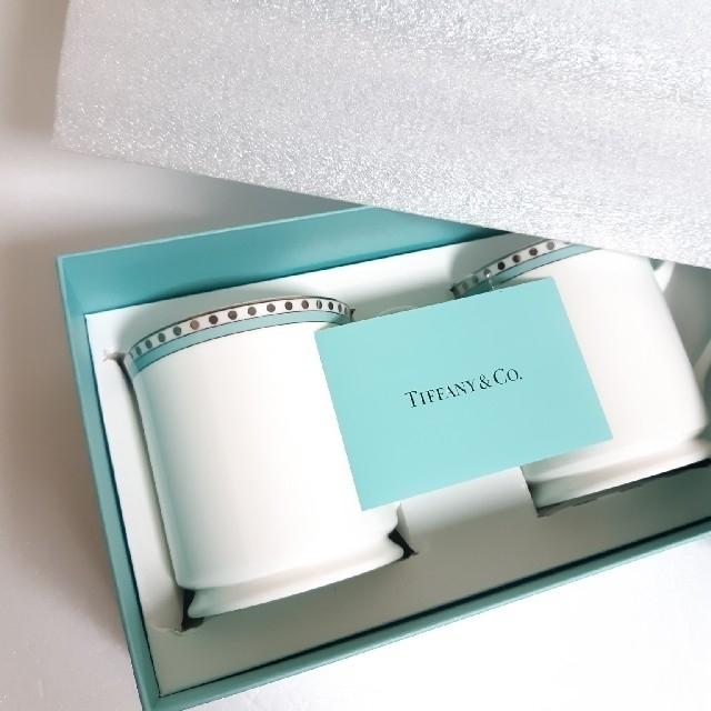 Tiffany & Co.(ティファニー)のティファニー プラチナブルーバンドカップ&ソーサー マグカップ セット インテリア/住まい/日用品のキッチン/食器(食器)の商品写真