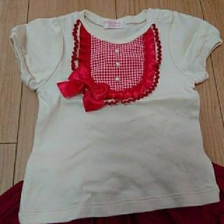 Shirley Temple - シャーリーテンプル 半袖カットソー Tシャツ ギンガムチェック