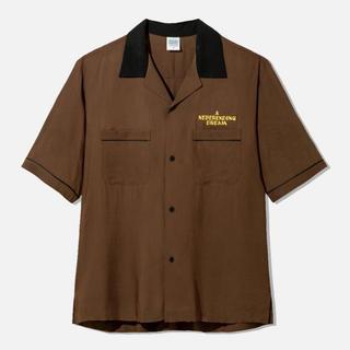 ジーユー(GU)のGU STUDIO SEVEN オープンカラーシャツ ブラウン XXL 片岡直人(シャツ)