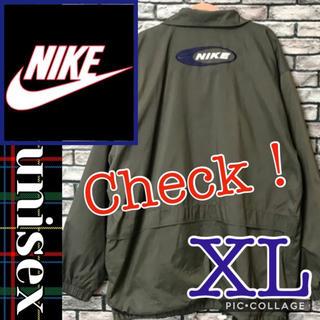 NIKE - NIKE 90s ウーブン 刺繍 総柄 ビッグスウォッシュ ナイロンジャケット
