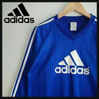 アディダス(adidas)の810 adidas デカロゴ ゲームシャツ V首 スリーライン(Tシャツ/カットソー(七分/長袖))