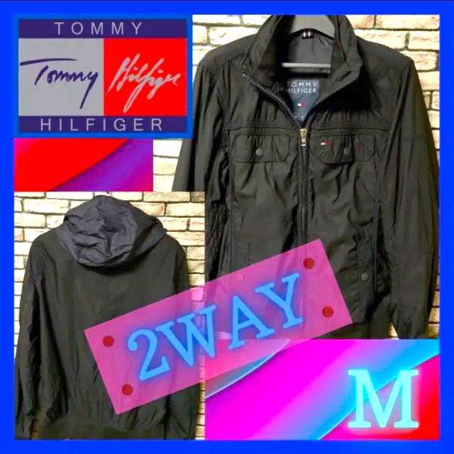 TOMMY HILFIGER(トミーヒルフィガー)のTommy トミーヒルフィガー 2wahy フラッグロゴ ナイロンジャケット メンズのジャケット/アウター(ナイロンジャケット)の商品写真