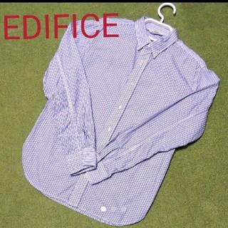 エディフィス(EDIFICE)の美品☆エディフィス☆長袖ストライプシャツ Sサイズ (シャツ)