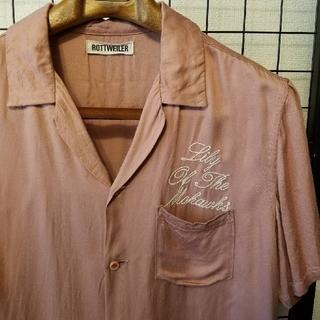 ロットワイラー(ROTTWEILER)の日本製 ROTTWEILER 前後刺繍 オープンカラーシャツ/開襟シャツ(シャツ)