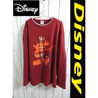 ディズニー(Disney)の90s Disney ディズニー  Mickey ミッキー ロンT カットソー(Tシャツ/カットソー(七分/長袖))