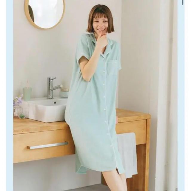 GU(ジーユー)のGU SABON パイルパジャマ ワンピース レディースのルームウェア/パジャマ(パジャマ)の商品写真