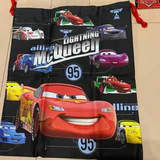 ディズニー(Disney)の新品タグ付きカーズ/体操着袋など/大きめ巾着/30cmx35cm (体操着入れ)