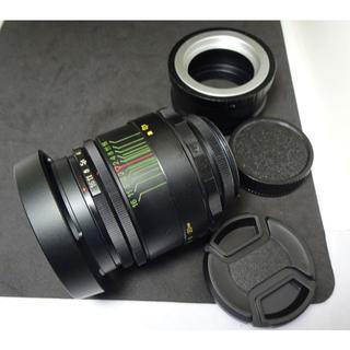 127 未使用品 ぐるぐるボケレンズ Helios44-2  アダプター付(レンズ(単焦点))