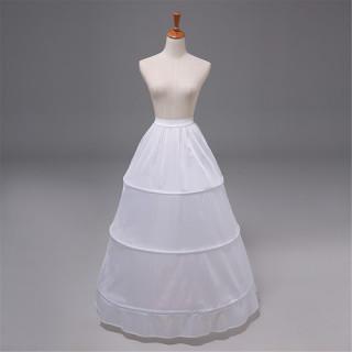 花嫁ドレス コスプレ 3段フリル ボリューム パニエ フリル カラースカート(その他ドレス)