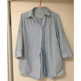 しまむら - 美品 ブルー シャツ