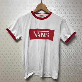 ヴァンズ(VANS)の♦️バンズ/ VANS♦️レディース♦️半袖Tシャツ♦️ホワイト×レッド(Tシャツ(半袖/袖なし))