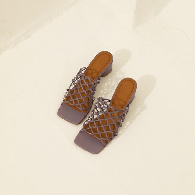 TODAYFUL(トゥデイフル)のTODAYFUL 新作 Leather Mesh Sandals サンダル 37 レディースの靴/シューズ(サンダル)の商品写真