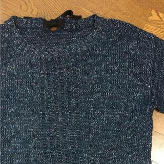 ジーユー(GU)のGU ラメ入り半袖ニット(ニット/セーター)