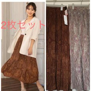 シマムラ(しまむら)の新品 ペイズリー スカート M 2枚セット(ロングスカート)