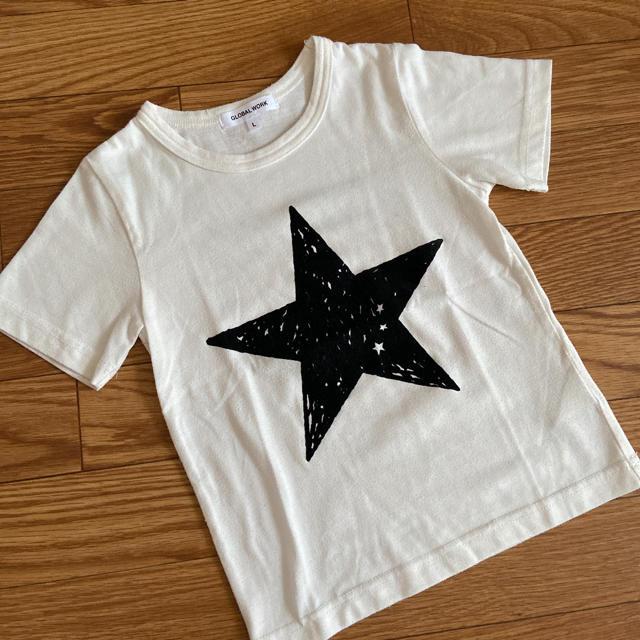 GLOBAL WORK(グローバルワーク)のGLOBAL WARK 120cm 星柄Tシャツ キッズ/ベビー/マタニティのキッズ服女の子用(90cm~)(Tシャツ/カットソー)の商品写真