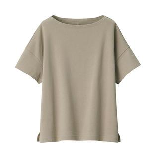 MUJI (無印良品) -  太番手天竺編みボートネックワイドTシャツ