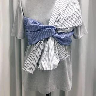ザラ(ZARA)のねじり ストライプ Tシャツ(Tシャツ/カットソー(半袖/袖なし))