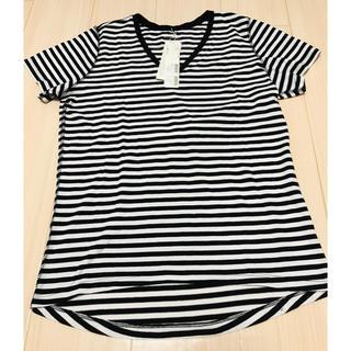 アズールバイマウジー(AZUL by moussy)のAZUL ★ 白黒シマ 半袖 Tシャツ(Tシャツ(半袖/袖なし))