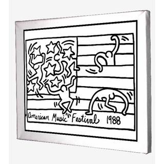 58-Keith Haring キースへリング キャンバスアート 模写(ボードキャンバス)