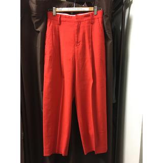 BEAUTY&YOUTH UNITED ARROWS - roku 6  麻混パンツ ベルト付き 赤/36サイズ