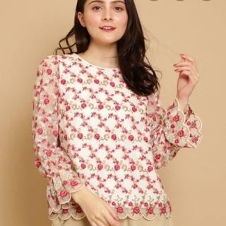 anatelier - Bon mercerieフラワーチュール刺繍シャツ
