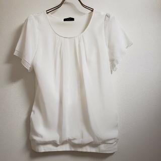 アールユー(RU)のアールユー 半袖ブラウス 白(シャツ/ブラウス(半袖/袖なし))