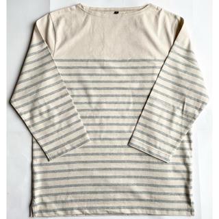 ムジルシリョウヒン(MUJI (無印良品))の無印良品 ボーダー7分丈Tシャツ(Tシャツ/カットソー(七分/長袖))