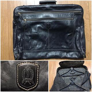 未使用レザー革スーツケース送料込ハンガー装着 新品ビジネスバッグ旅行トラベル出張(トラベルバッグ/スーツケース)