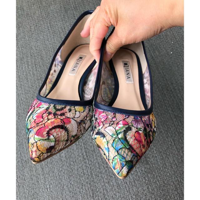 DIANA(ダイアナ)の最終お値下げ!お値下げ不可!ダイアナレースパンプス かなり美品! レディースの靴/シューズ(ハイヒール/パンプス)の商品写真