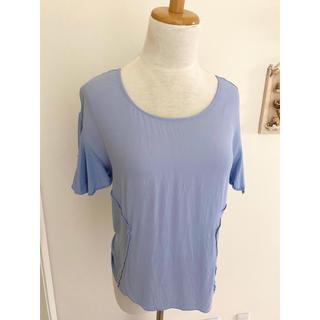 ザラ(ZARA)のフランス購入  くすみブルー ブラウス Tシャツ(Tシャツ(半袖/袖なし))