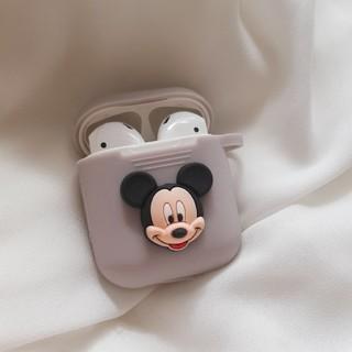 ディズニー(Disney)のAirPods ケース エアーポッズ カバー ミッキー キーホルダー(ヘッドフォン/イヤフォン)
