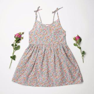 ボンポワン(Bonpoint)のNellie Quats -Kiss-chase dress Liberty(ワンピース)
