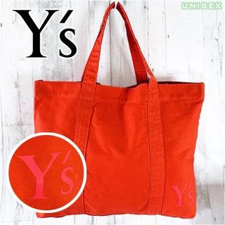 Y's - Y's ワンポイント ロゴ プリント トートバッグ エコ バッグ コットン