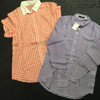 ジーユー(GU)の新品チェック柄半袖&長袖シャツ(シャツ/ブラウス(半袖/袖なし))