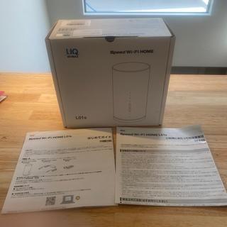 エーユー(au)のUQ Wimax Speed Wi-Fi HOME L01s white(その他)