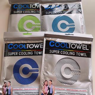 冷却タオル 冷感タオル ひんやりタオル スポーツ タオル 新品 4枚セット