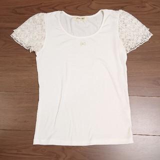 アンティローザ(Auntie Rosa)のアンティローザ 袖レースTシャツ(Tシャツ(半袖/袖なし))